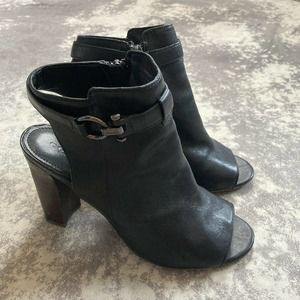 Coach Lafayette Leather Peep Toe Slingback Heels